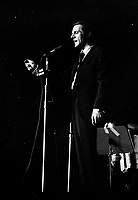 ARCHIVE - Radio Canada -  Claude Leveillee<br /> <br />  (date inconnue, entre 1967 et 1972)<br /> <br /> Photo : Agence Quebec Presse  - Alain Renaud
