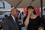 PAOLO VIRZI' CON MONICA BELLUCCI<br /> PREMIO CIAK D'ORO 2014 - TERRAZZA DEL VITTORIANO ROMA 2014