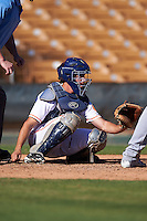 Glendale Desert Dogs Garrett Stubbs (4), of the Houston Astros organization, during a game against the Mesa Solar Sox on October 20, 2016 at Camelback Ranch in Glendale, Arizona.  Glendale defeated Mesa 3-2.  (Mike Janes/Four Seam Images)