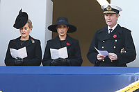 ***NO UK*** REF: MTX 193994 - Sophie, Countess of Wessex, Meghan, Duchess of Sussex and Timothy Laurence attend the annual Remembrance Sunday memorial at The Cenotaph in London, England.  NOVEMBER 10th 2019. Credit: Trevor Adams/Matrix/MediaPunch