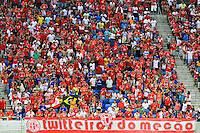 NATAL, 10.05.2014 -  Parte da torcida do América RN  durante o jogo contra Atlético GO pela quarta rodada do Campeonato Brasileiro da Série B disputado neste sábado no estádio Arena das Dunas. (Foto: Néstor J. Beremblum / Brazil Photo Press)