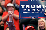 Hershey, PA, USA - Dec. 15, 2016; President-Elect Donald Trump and Vice-President-Elect Mike Pence hold a post-election Thank You Tour event of at the Giant Center in Hershey, PA.