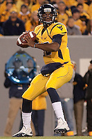 WVU quarterback Geno Smith. The West Virginia Mountaineers defeated the South Florida Bulls 20-6 on October 14, 2010 at Mountaineer Field, Morgantown, West Virginia.