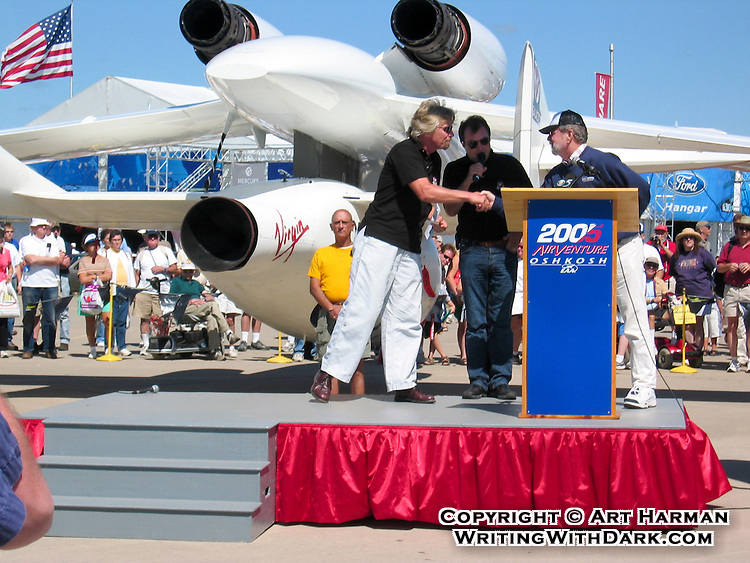 Following the successful X-Prize-winning flight of Burt Rutan's Spaceship One, Richard Branson announced he would build a larger spacecraft to do commercial suborbital flights. By Art Harman