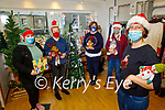 The staff of Down Syndrome Kerry's 321 shop, celebrate Christmas on Thursday. Front: Rachel Fitzgerald (Manager). Back l to r: Zoe O'Sullivan, Rebecca O'Donoghue, Grace O'Donnell (Asst Manager) and Tonya Fisher.