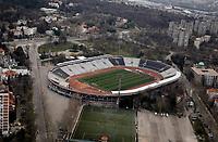 Fudbal Season 2019-2020-General overview of FK Partizan football stadium JNA-An aerial view-Ilustracija Illustration<br /> Beograd, 23.03.2020.<br /> foto: Marko Djokovic/Starsportphoto©