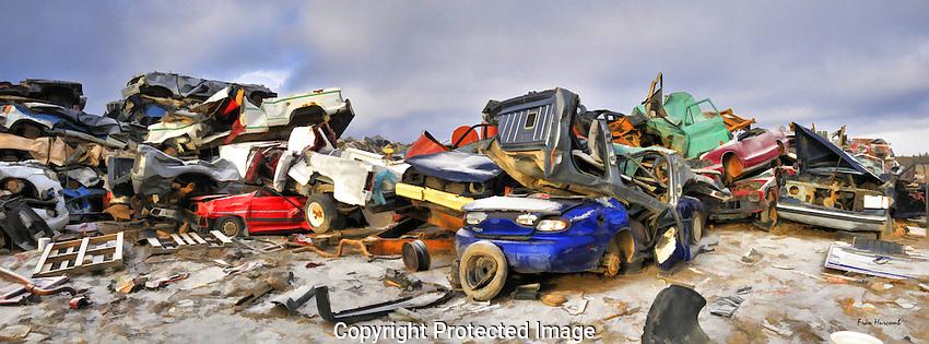 Car panorama at the Yellowknife dump