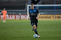 SAN JOSE, CA - OCTOBER 03: Tanner Beason #15 of the San Jose Earthquakes controls the ball during a game between Los Angeles Galaxy and San Jose Earthquakes at Earthquakes Stadium on October 03, 2020 in San Jose, California.