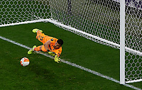 Villarreal s goalkeeper Geronimo Rulli saves the ball during the penalty shootout of the UEFA Europa League final <br /> Gdansk 26/05/2021<br /> Europa League Final <br /> Villarreal Vs Manchester United<br /> Photo Pablo Morano/Xinhua/Imago/Insidefoto