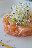 Europe/France/Languedoc-Roussillon/66/Pyrénées-Orientales/Perpignan: Tartare de saumon,  Brasserie: La 7e Vague