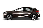 Car Driver side profile view of a 2017 Infiniti QX0 Premium-Tech-4wd 5 Door Suv Side View