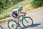 The breakaway featuring Nikodemus Holler (GER) Bike Aid during Stage 2 of the Route d'Occitanie 2020, running 174.5km from Carcassone to Cap Découverte, France. 2nd August 2020. <br /> Picture: Colin Flockton | Cyclefile<br /> <br /> All photos usage must carry mandatory copyright credit (© Cyclefile | Colin Flockton)
