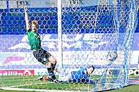Ryan Williams of Portsmouth scores the first goal as Rochdale appeal for offside during Portsmouth vs Rochdale, Sky Bet EFL League 1 Football at Fratton Park on 2nd April 2021