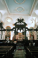 Sir Christopher Wren: St. Margaret, Lothbury, 1686-1690.  Showing odd bias of front wall.
