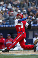Eduardo Paret of the Cuban national team during game against the Dominican Republic team during the World Baseball Championships at Petco Park in San Diego,California on March 18, 2006. Photo by Larry Goren/Four Seam Images