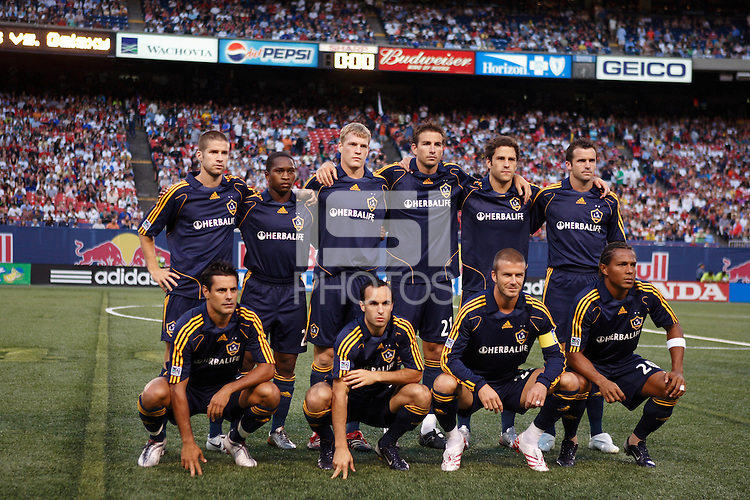 Los Angeles Galaxy starters pose for the team picture prior to an MLS regular season match at Giants Stadium, East Rutherford, NJ, on August 18, 2007. The Red Bulls defeated the Galaxy 5-4.