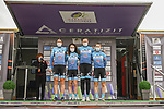 Team Hitec Products–Birk Sport at sign on before the start of Stage 1 of the CERATIZIT Challenge by La Vuelta 2020, running 82.8km from Toledo to Escalona, Spain. 6th November 2020.<br /> Picture: Antonio Baixauli López/BaixauliStudio | Cyclefile<br /> <br /> All photos usage must carry mandatory copyright credit (© Cyclefile | Antonio Baixauli López/BaixauliStudio)