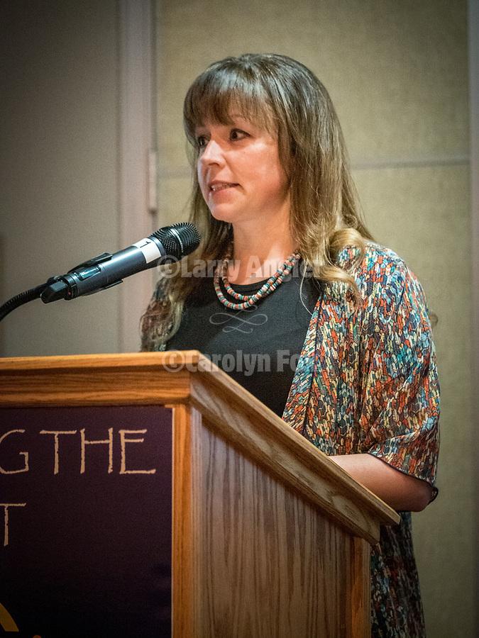 Michelle Hammond, Director of STW, the Friday symposium at STW XXXI, Winnemucca, Nevada, April 12, 2019.<br /> .<br /> .<br /> .<br /> .<br /> @shootingthewest, @winnemuccanevada, #ShootingTheWest, @winnemuccaconventioncenter, #WinnemuccaNevada, #STWXXXI, #NevadaPhotographyExperience, #WCVA