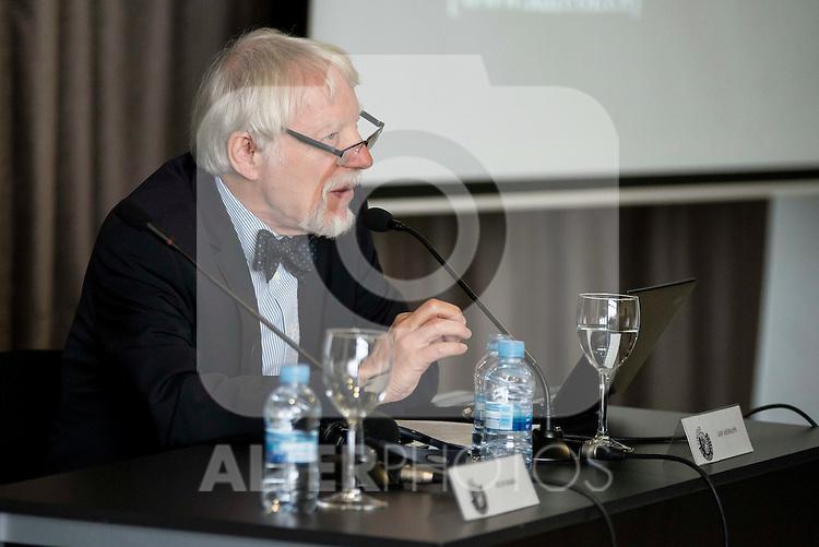 The german egyptologist Jan Assman during a conference at Circulo de Bellas Artes in Madrid. May 25, 2016. (ALTERPHOTOS/Borja B.Hojas)