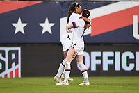 JACKSONVILLE, FL - NOVEMBER 10: Margaret Purce #30 and Rose Lavelle #16 celebrate a goal during a game between Costa Rica and USWNT at TIAA Bank Field on November 10, 2019 in Jacksonville, Florida.