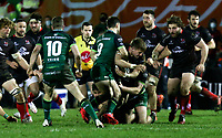 27th December 2020 | Connacht  vs Ulster <br /> <br /> Stewart Moore is tackled by Caolin Blade during the PRO14 Round 9 clash again Connacht at the Sportsground in Galway, Ireland. Photo by John Dickson/Dicksondigital