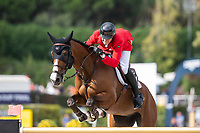 3rd October 2021;  Real Club de Polo, Barcelona, Spain; CSIO5 Longines FEI Jumping Nations Cup Final 2021; Davil Will from Germny during the FEI Jumping Nations Cup Final 2021