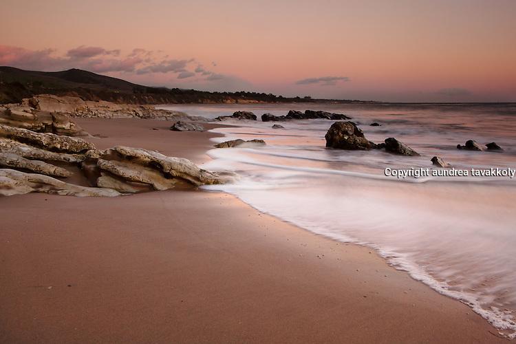 A peaceful evening on the gaviota coast, Gaviota, Goleta, Santa Barbara, California