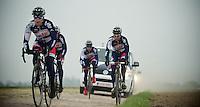 Paris-Roubaix 2012 recon..Greg Henderson