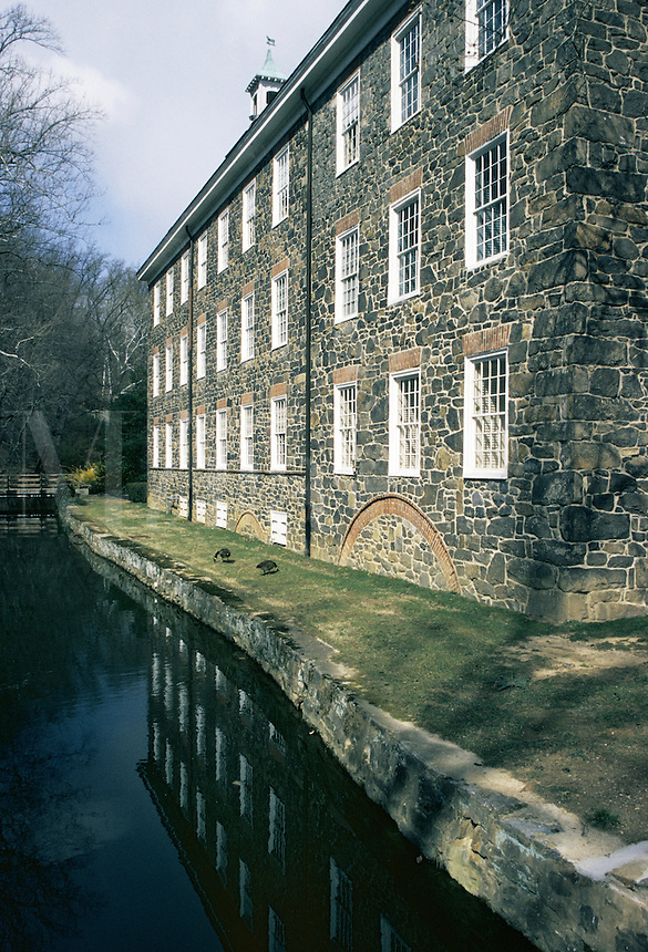 Hagley Mills, Del..The Henry Clay Mill at Hagley Mills, near Eleutherian Mill which is part of the Dupont complex in Brandywine Valley