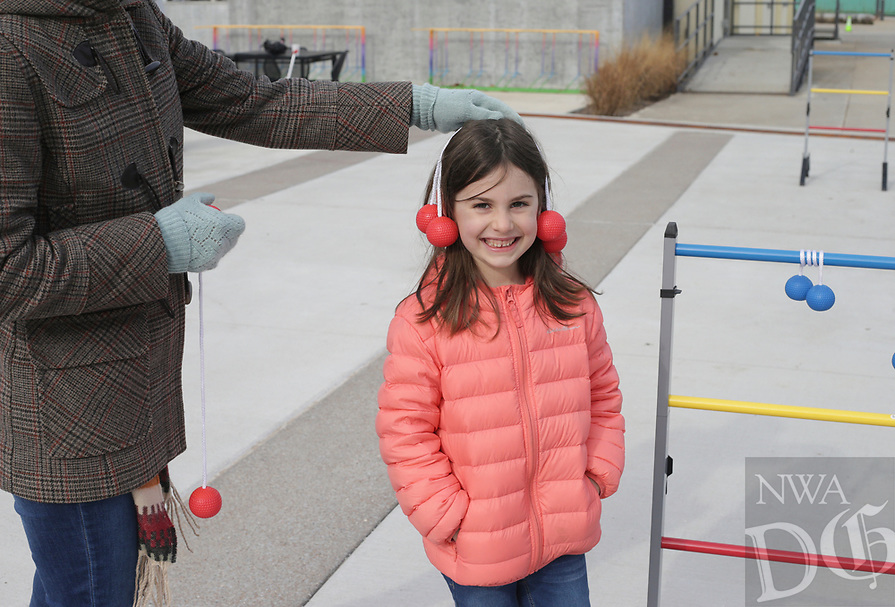 Sunday, January 10, 2021 at The Momentary grounds in Bentonville. The Momentary hosted a free outdoor pop-up experience called Winter Glow. Attendees enjoyed games, food and pits. Check out nwaonline.com/210111Daily/ for today's photo gallery. <br /> (NWA Democrat-Gazette/Charlie Kaijo)