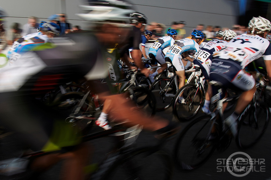 Halfords Tour Cycle Race , Woking , Surrey , June 2011 pic copyright Steve Behr / Stockfile