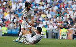 Real Madrid CF's James Rodriguez and Real Madrid CF's Isco Alarcon during La Liga match. Aug 24, 2019. (ALTERPHOTOS/Manu R.B.)
