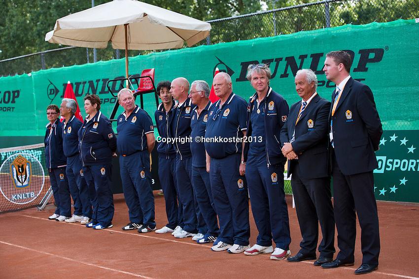 10-08-13, Netherlands, Rotterdam,  TV Victoria, Tennis, NJK 2013, National Junior Tennis Championships 2013,  Umpires and linespersons<br /> <br /> Photo: Henk Koster