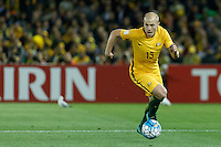 October 11, 2016: AARON MOOY (13) of Australia runs with the ball during a 3rd round Group B World Cup 2018 qualification match between Australia and Japan at the Docklands Stadium in Melbourne, Australia. Photo Sydney Low Please visit zumapress.com for editorial licensing. *This image is NOT FOR SALE via this web site.