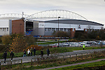 Wigan Athletic 1 Shrewsbury Town 0, 21/11/2015. DW Stadium, League One. The DW Stadium. Wigan Athletic earned a narrow 1-0 at home to Shrewsbury Town. Wigan competed in the Premier League from 2005 to 2013. They won the 2013 FA Cup. The club also embarked on its first European campaign during the 2013–14 UEFA Europa League. The DW Stadium. Photo by Paul Thompson