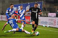 Zweikampf Christian Clemens (SV Darmstadt 98) und Patrick Herrmann (SV Darmstadt 98, grätschend) gegen Ivan Paurevic (SV Sandhausen)<br /> <br /> - 27.01.2021 Fussball 2. Bundesliga, Saison 20/21, Spieltag 18, SV Darmstadt 98 - SV Sandhausen, Stadion am Boellenfalltor, emonline, emspor, <br /> <br /> Foto: Marc Schueler/Sportpics.de<br /> Nur für journalistische Zwecke. Only for editorial use. (DFL/DFB REGULATIONS PROHIBIT ANY USE OF PHOTOGRAPHS as IMAGE SEQUENCES and/or QUASI-VIDEO)