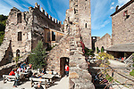 Italy, Alto Adige - Trentino (South Tyrol), Community Appiano sulla Strada del Vino: Appiano Castle, popular hiking destination and mountain inn above Missiano | Italien, Suedtirol, bei Bozen, Gemeinde Eppan: auf Schloss Hocheppan, beliebtes Wanderziel und Jausenstation oberhalb von Missian