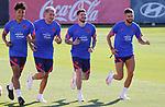 Atletico de Madrid's Carlos Rojas, Jose Maria Gimenez, Rodrigo de Paul and Yannick Carrasco during training session. July 30,2021.(ALTERPHOTOS/Atletico de Madrid/Pool)