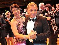 Opernball 2013 am 14.09.2013 in Leipzig (Sachsen). <br /> IM BILD: Richy Müller / Mueller mit Ehefrau Christel <br /> Foto: Christian Nitsche