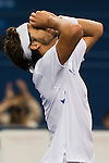 SHANGHAI, CHINA - OCTOBER 16: Feliciano Lopez of Spain celebrates match point against Robin Soderling of Sweden during day six of 2009 Shanghai ATP Masters 1000 at Qi Zhong Tennis Centre on October 16, 2009 in Shanghai, China.  Photo by Victor Fraile / The Power of Sport Images