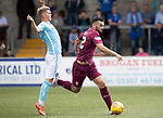 Forfar v St Johnstone…28.07.18…  Station Park    Betfred Cup<br />Tony Watt goes past Tom Reilly<br />Picture by Graeme Hart. <br />Copyright Perthshire Picture Agency<br />Tel: 01738 623350  Mobile: 07990 594431