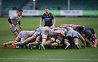 14th February 2021; Sixways Stadium, Worcester, Worcestershire, England; Premiership Rugby, Worcester Warriors versus Wasps; Sam Wolstenholme of Wasps feeds the ball into the scrum