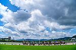 KITAKYUSHU,JAPAN-JUL 11: Horses are running under summer sky at Kokura Racecourse on July 11,2021 in Kitakyushu,Fukuoka,Japan. Kaz Ishida/Eclipse Sportswire/CSM