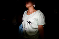 CHINA. Beijing. A young woman on Tiananmen Square during the Beijing 2008 Summer Olympics. 2008