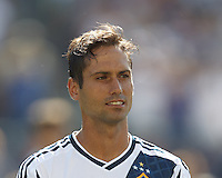 LA Galaxy midfielder Marcelo Sarvas (8). In a Major League Soccer (MLS) match, the New England Revolution (blue) defeated LA Galaxy (white), 5-0, at Gillette Stadium on June 2, 2013.