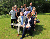 Pictured: Edwin Roderick (TOP ROW 2ND FROM LEFT) and Emily Durrant (TOP ROW THIRD FROM LEFT) during an unrelated Brecon Beacons National Park Authority meeting.<br />Re: Councillor Edwin Roderick, who has been accused of slapping colleague Emily Durrant on the bottom, will appear before the public standards watchdog.<br />The alleged incident took place during a Brecon Beacons National Park Authority meeting in December 2017.<br />Neither Mr Roderick nor Ms Durrant wanted to comment. A date for his hearing has not been set.<br />Complaints against Mr Roderick, an independent councillor for the Maescar and Llywel ward, were initially made to the Public Services Ombudsman for Wales.<br />The Adjudication Panel for Wales will now decide what, if any, sanctions should be imposed.