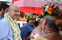 Deplacement d'Alain JuppÈ a Tahiti dans le cadre de sa campagne pour les primaires aux elections presidentielles.