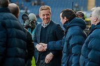 BLACKBURN, ENGLAND - JANUARY 24:  Garry Monk, Manager of Swansea City and Gary Bowyer, Manager Blackburn Rovers shake hands  during the FA Cup Fourth Round match between Blackburn Rovers and Swansea City at Ewood park on January 24, 2015 in Blackburn, England.  (Photo by Athena Pictures/Getty Images)