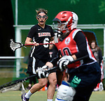 GER - Hannover, Germany, May 30: During the Women Lacrosse Playoffs 2015 match between DHC Hannover (black) and SC Frankfurt 1880 (red) on May 30, 2015 at Deutscher Hockey-Club Hannover e.V. in Hannover, Germany. Final score 23:3. (Photo by Dirk Markgraf / www.265-images.com) *** Local caption *** Regina Flatken #6 of DHC Hannover