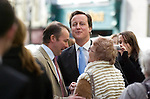 David Cameron, the Conservative Party leader meeting members of the public as he visited Carmarthen today to meet local businesses during his visit to South Wales..